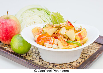 Red apple salad thai food
