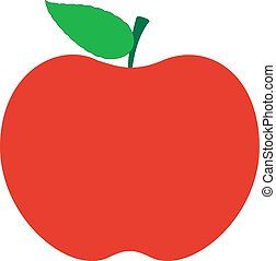 Abstract Red Delicious Comic Apple Vector Icon Shape