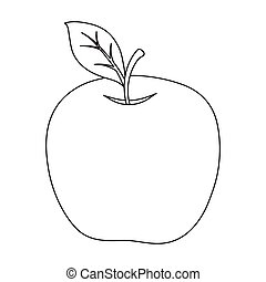 Red Apple. Snack at school. Lunch at the break.School And Education single icon in outline style vector symbol stock illustration.