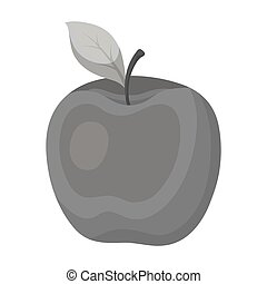 Red Apple. Snack at school. Lunch at the break.School And Education single icon in monochrome style vector symbol stock illustration.
