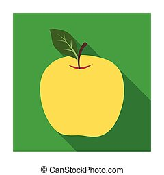 Red Apple. Snack at school. Lunch at the break.School And Education single icon in flat style vector symbol stock illustration.