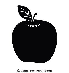 Red Apple. Snack at school. Lunch at the break.School And Education single icon in black style vector symbol stock illustration.