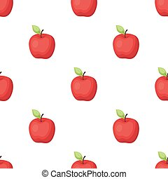 Red Apple. Snack at school. Lunch at the break.School And Education single icon in cartoon style vector symbol stock illustration.