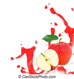 Red apple splash
