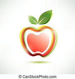 red apple symbol, vector icon
