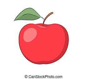 red apple - vector