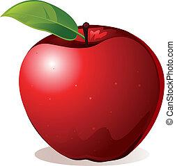 red apple - vector illustration