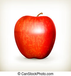 Red apple, vector