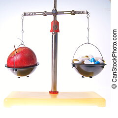 Red apple vs. food supplements - Red apple food supplements...