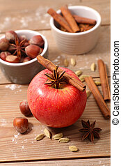red apple with spices
