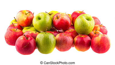 Red apples, isolated on white background.