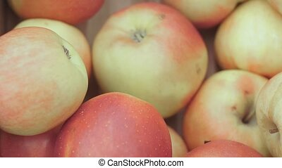 red apples on the market