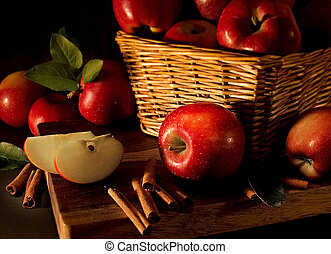 Red apples - Apples with cinnamon sticks