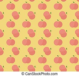 Red apples with leaves pattern