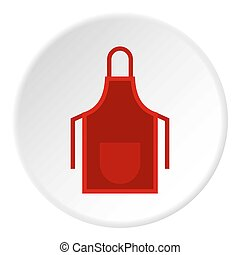 Red apron icon circle