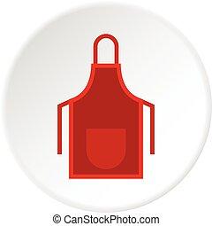 Red apron icon circle