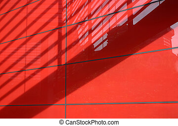 Red architectural abstract