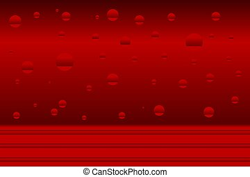 Red abstract background. With red circles.