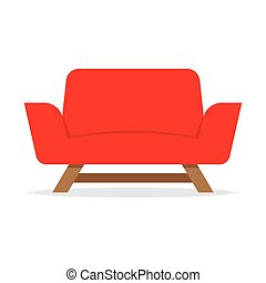 Red Armchair Icon
