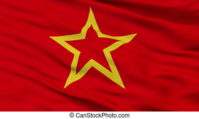 Red Army Flag Closeup Seamless Loop - Red Army Flag, Closeup...