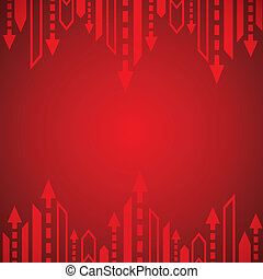 Red arrow background