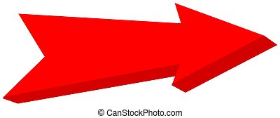 red arrow pointed - 3D Illustration