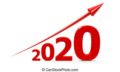 Red arrow up with 2019. Red arrow up represents the growth ...