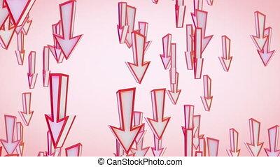 red arrows fly downward loop