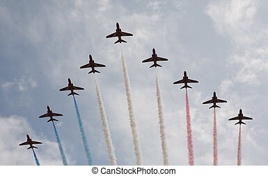 Red arrows - The world famous Royal air force. RAF....