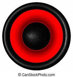 Red audio speaker