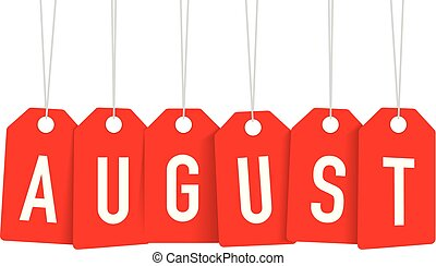 red august tag