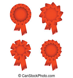 red award ribbon rosette