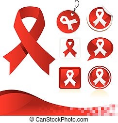 Red Awareness Ribbons Kit
