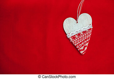 red background, Background for text, new year, Christmas image, Beautiful heart
