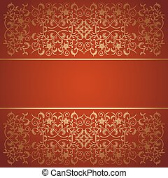 Red background baroque vector