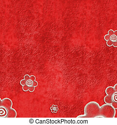 Red background daisies rustic - Red wallpaper with...