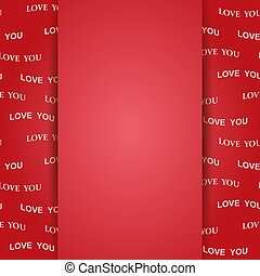 red background for valentine day - vector love you