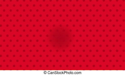 Red background, pop art Video animation - Red dotted...