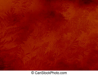 red background texture or wallpaper with ferns in filigree