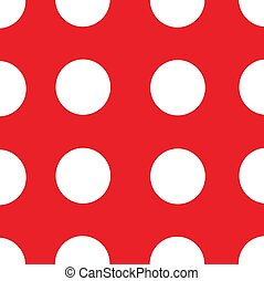 red background white polka dots