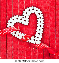Red background with a heart
