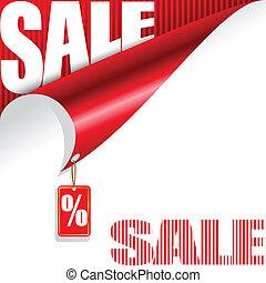 Red background with a sale