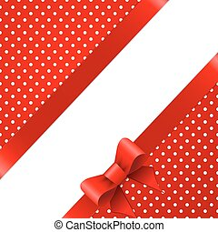 Red background with bow