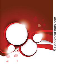 Red background with circles
