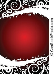 red background with decorations