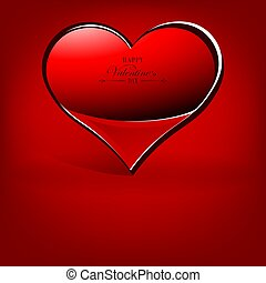 red background with heart