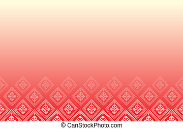 Red background with line of diamonds