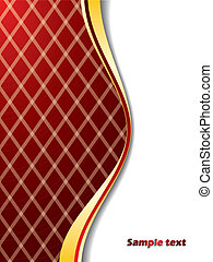 Red background with lines