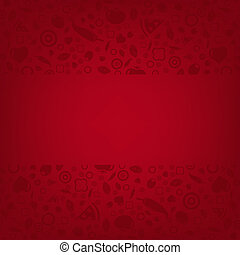 Red Background With Menu