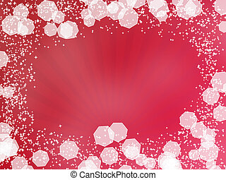 Red Background with rays